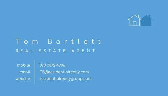 Bartlett Real Estate - Business Card Template