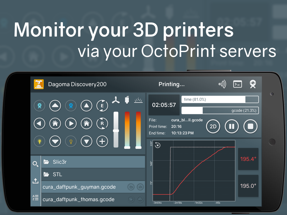 Printoid for OctoPrint [TRIAL]- screenshot