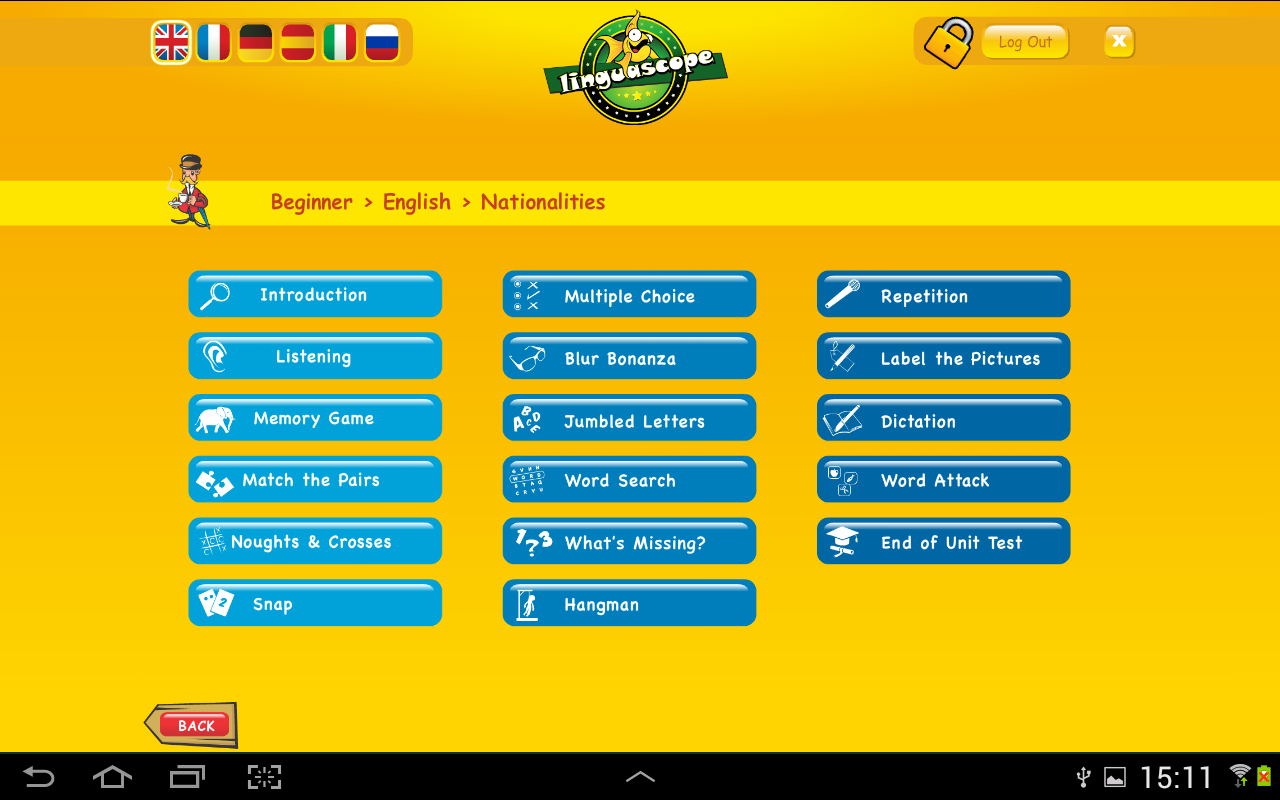 Linguascope Beginners- screenshot