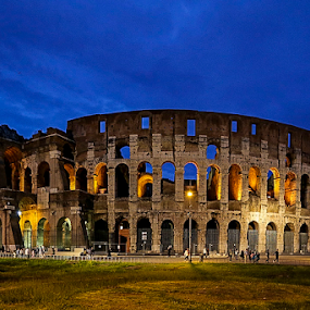 Koloseum by Blaz Crepinsek - Buildings & Architecture Public & Historical ( koloseum, rome, canon eos, evening,  )