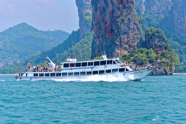 Travel from Phuket to Railay Beach by ferry