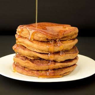 Fluffy Vegan Molasses Pancakes.