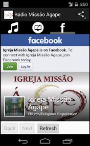 Rádio Missão Ágape screenshot 2