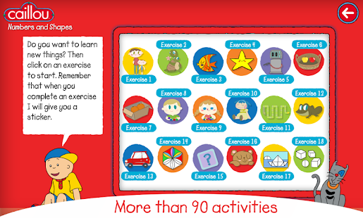 Caillou learning for kids- screenshot thumbnail