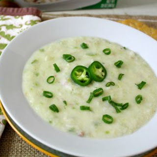 Jalapeno Cheddar & Bacon Cauliflower Soup.