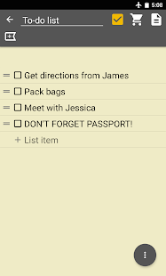Notepad & To Do List Screenshot