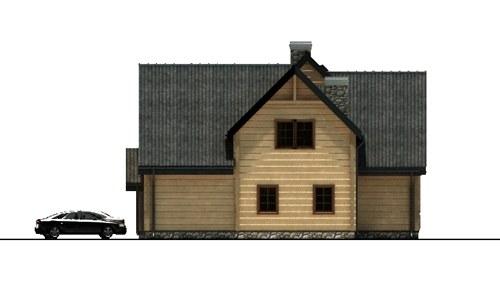 D165 - Mietek wersja drewniana - Elewacja lewa