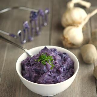 Roasted Garlic Purple Mashed Potatoes
