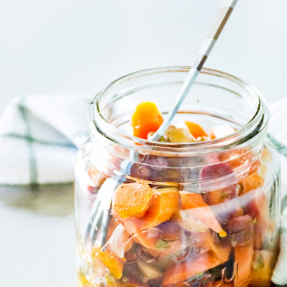 Garlicky Marinated Carrots.