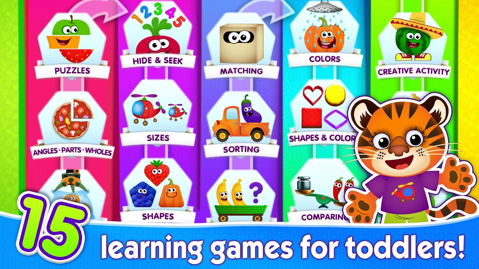 FUNNY FOOD 2! Educational Games for Kids Toddlers!- screenshot