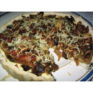 Carmelized Onion & Bacon Tart