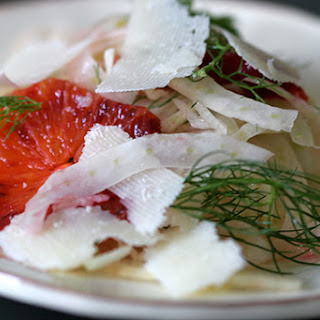 Shaved Fennel with Blood Oranges and Pecorino