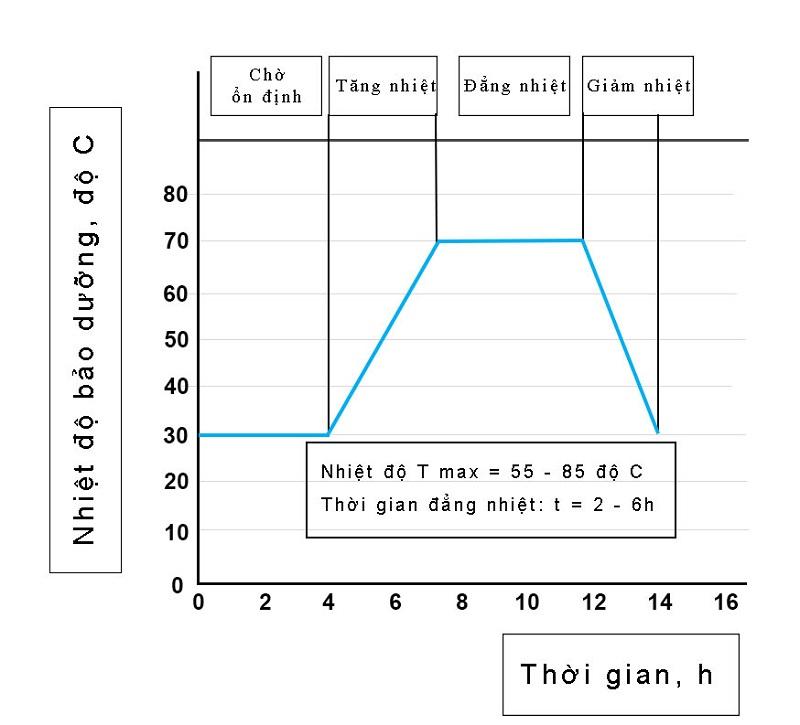 Quy trình dưỡng hộ bê tông nhiệt ẩm cơ bản
