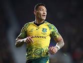 Le rugbyman Israel Folau officiellement viré par la Fédération australienne