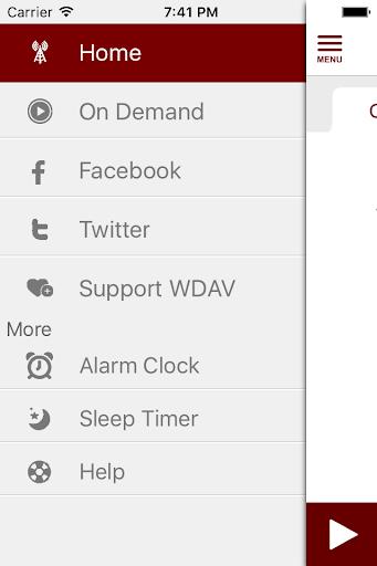 wdav classical public radio app screenshot 3