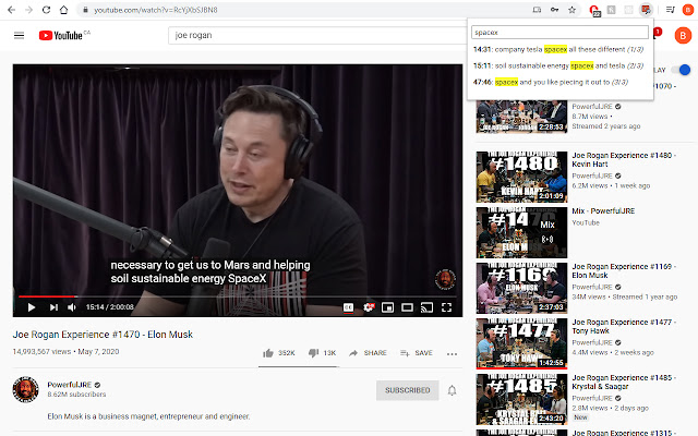 YouTube Captions Search