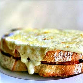 Croque Monsieur Ham and Cheese Sandwich.