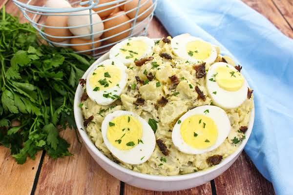 A Bowl Of Ma Huck's Smoky Potato Salad.