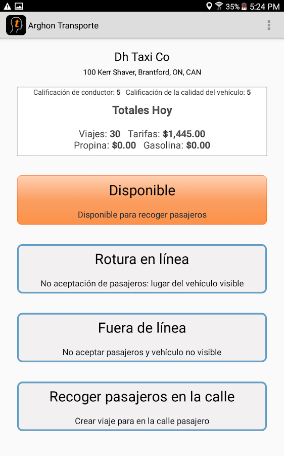 Arghon Transport Taxi App- screenshot