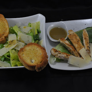 Grilled Chicken & Ceasar Salad Dressing.