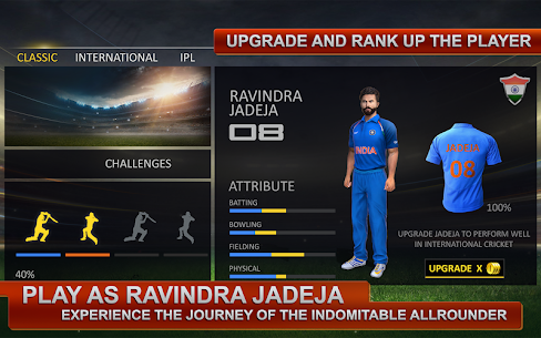 Ravindra Jadeja: Official Cricket Game 10