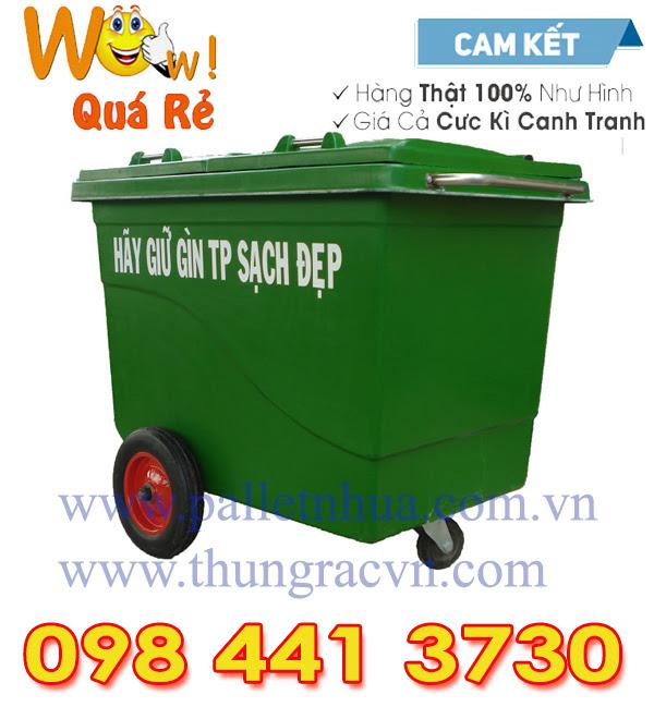 www.123nhanh.com: Thùng rác 660 lít composite