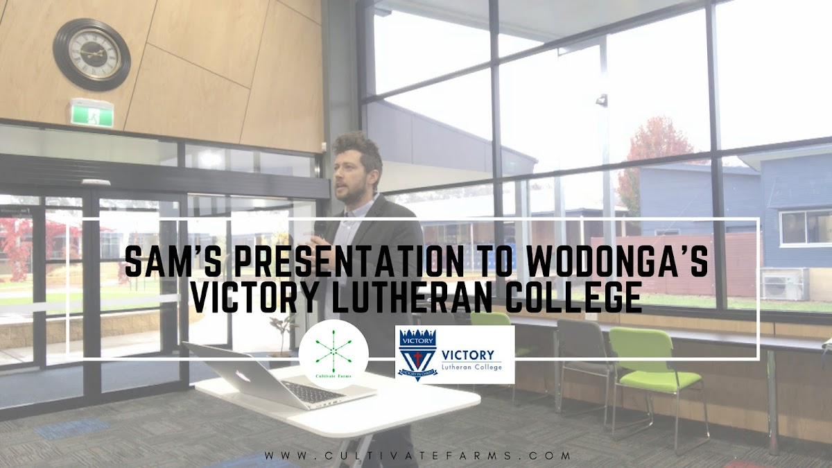 Sam's Presentation to Wodonga's Victory Lutheran College