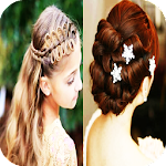 Beautiful Girl Hairstyles Icon