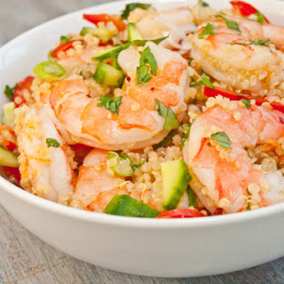 Vietnamese Shrimp and Quinoa Salad.