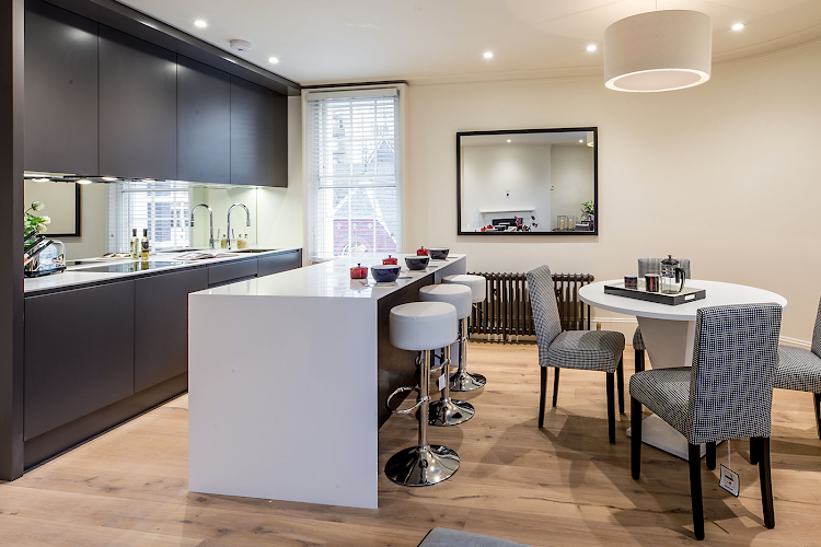 Fully equipped kitchen at Lower Belgrave Street Apartments