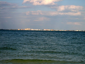 Photo: Fort Myers Beach as seen from the Lighthouse Beach on Sanibel Island