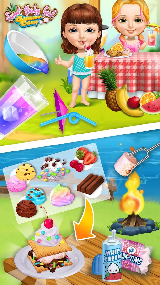 Sweet Baby Girl Summer Camp - Kids Camping Club Android 6