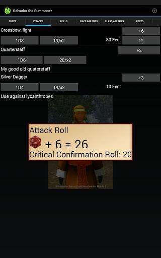 d20 Character Sheet screenshot 10