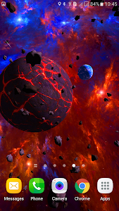 Asteroids 3D live wallpaper screenshot 2