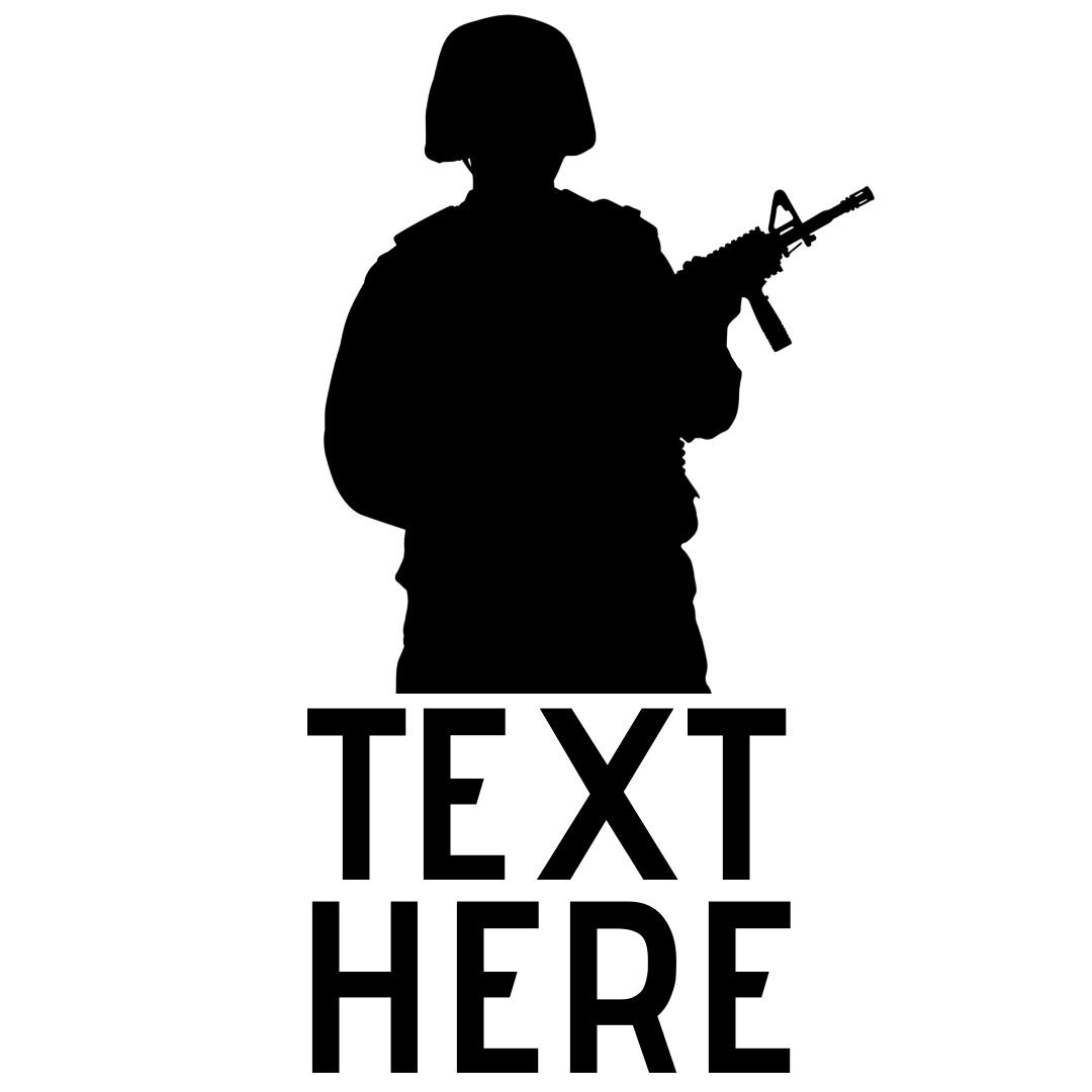 military gun logo