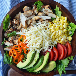 Southwestern Chicken Chopped Salad with Cilantro Lime Ranch.