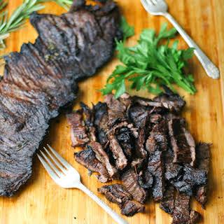 Balsamic Marinated Skirt Steak.