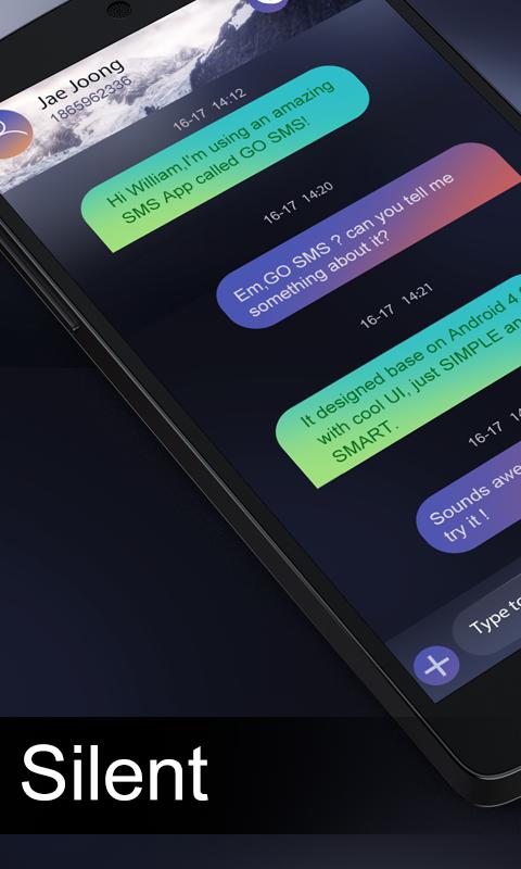 Скриншот GO SMS PRO SILENT THEME
