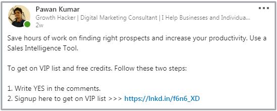 LinkedIn post