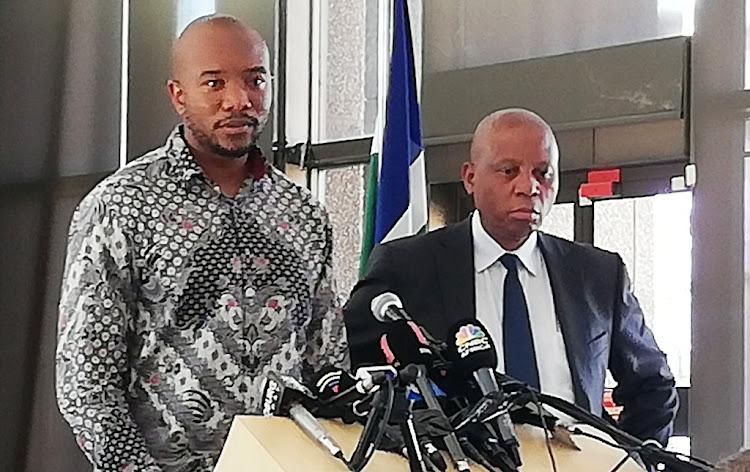 DA leader Mmusi Maimane and newly resigned Johannesburg mayor Herman Mashaba in Johannesburg, October 21 2019. Picture: CLAUDI MAILOVICH.