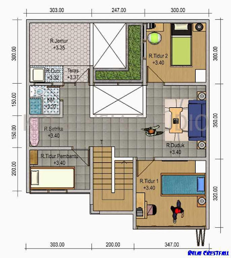 3Dハウスプランのデザイン