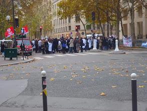 Photo: Non ce n'est pas nous ! Une manifestation juste avant notre entrevue