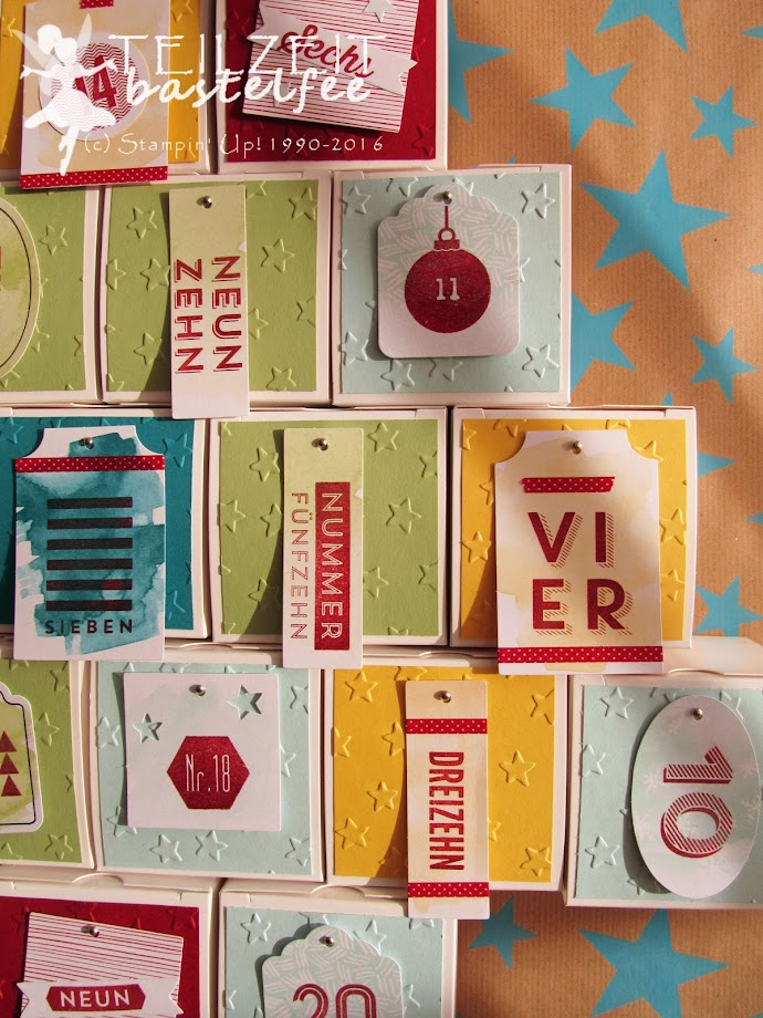 Stampin' Up! – Adventskalender, advent calendar, boxes, tin of tags, Drauf und Dran, 24 Türchen, 25 days