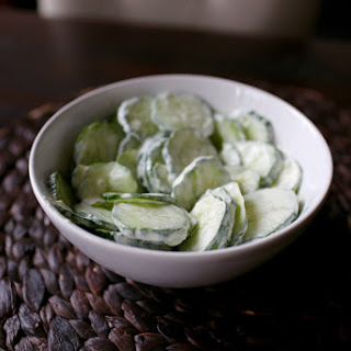 Cucumber Salad with Sour Cream (Krastavci s vrhnjem)