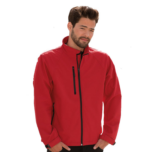 Russell Men's Soft Shell Jacket - Classic Red