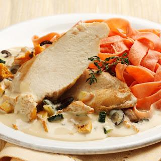 Hühnerbrustfilet mit Schwammerl-Gemüsesauce