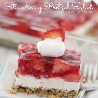 Strawberry Pretzel Salad.