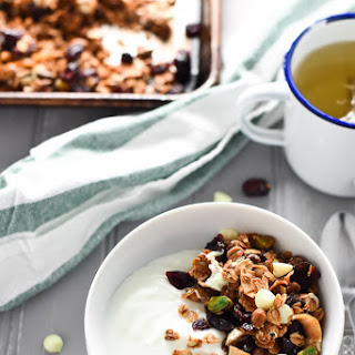 Pistachio, White Chocolate and Cranberry Granola