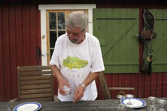Photo: Janne dukar upp