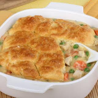 1. Chicken Pot Pie with Biscuit Crust.